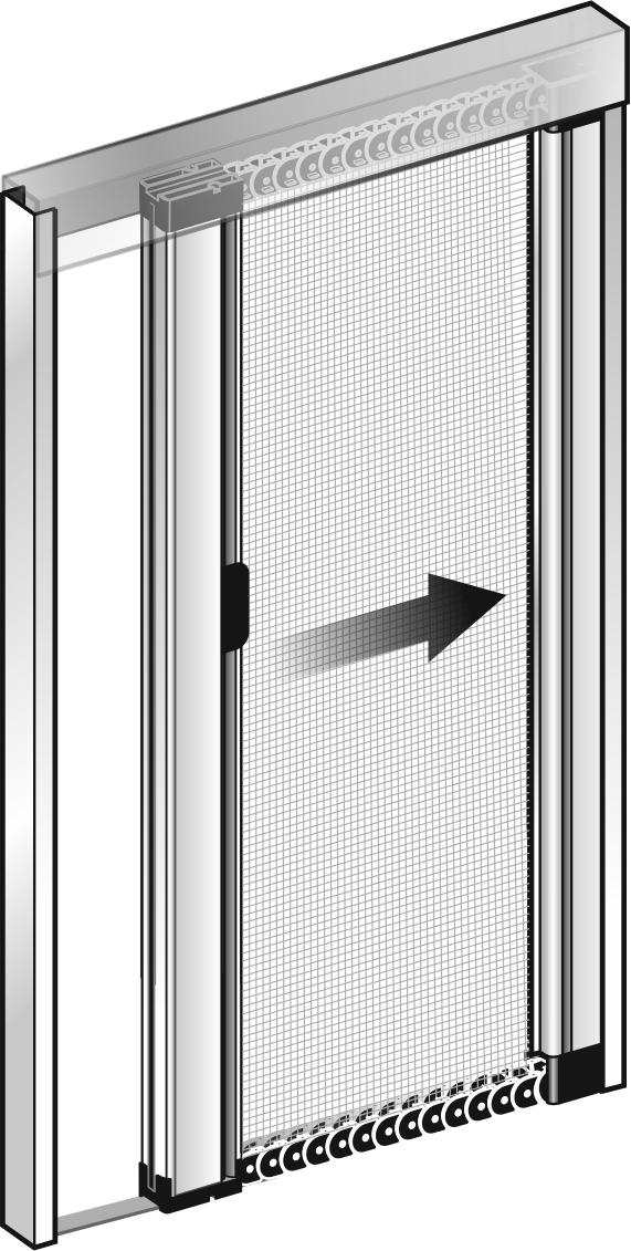 Zanzariera a molla laterale outletinfissi roma vendita for Porte e finestre prezzi