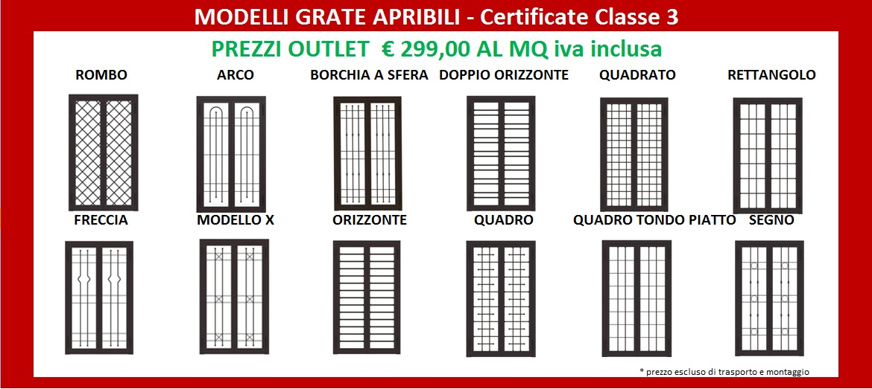 Inferriata grata apribile roma outletinfissi roma for Finestre roma prezzi